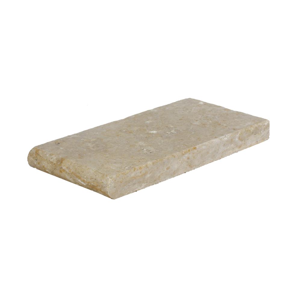 Toscana Bullnose Travertine Pool Copings 6x12-pool copings sale-Atlantic Stone Source