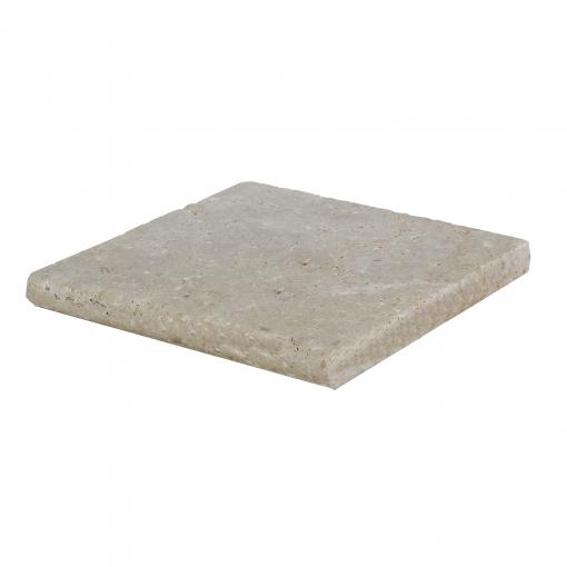 Walnut Bullnose Travertine Pool Copings 12x12-pool copings sale-Atlantic Stone Source