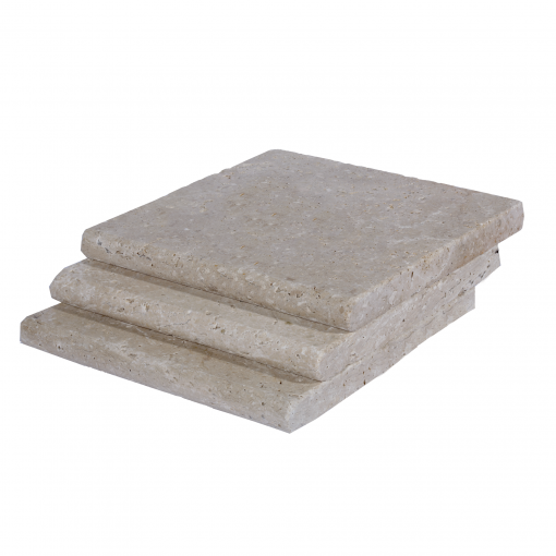 Walnut Bullnose Travertine Pool Copings 12x12-pool copings sale-Atlantic Stone Source