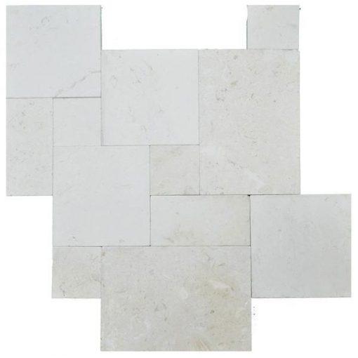 Myra Beige Tumbled French Pattern Limestone Pavers
