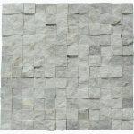 Silver Split Face Marble Mosaic Tiles 1x1