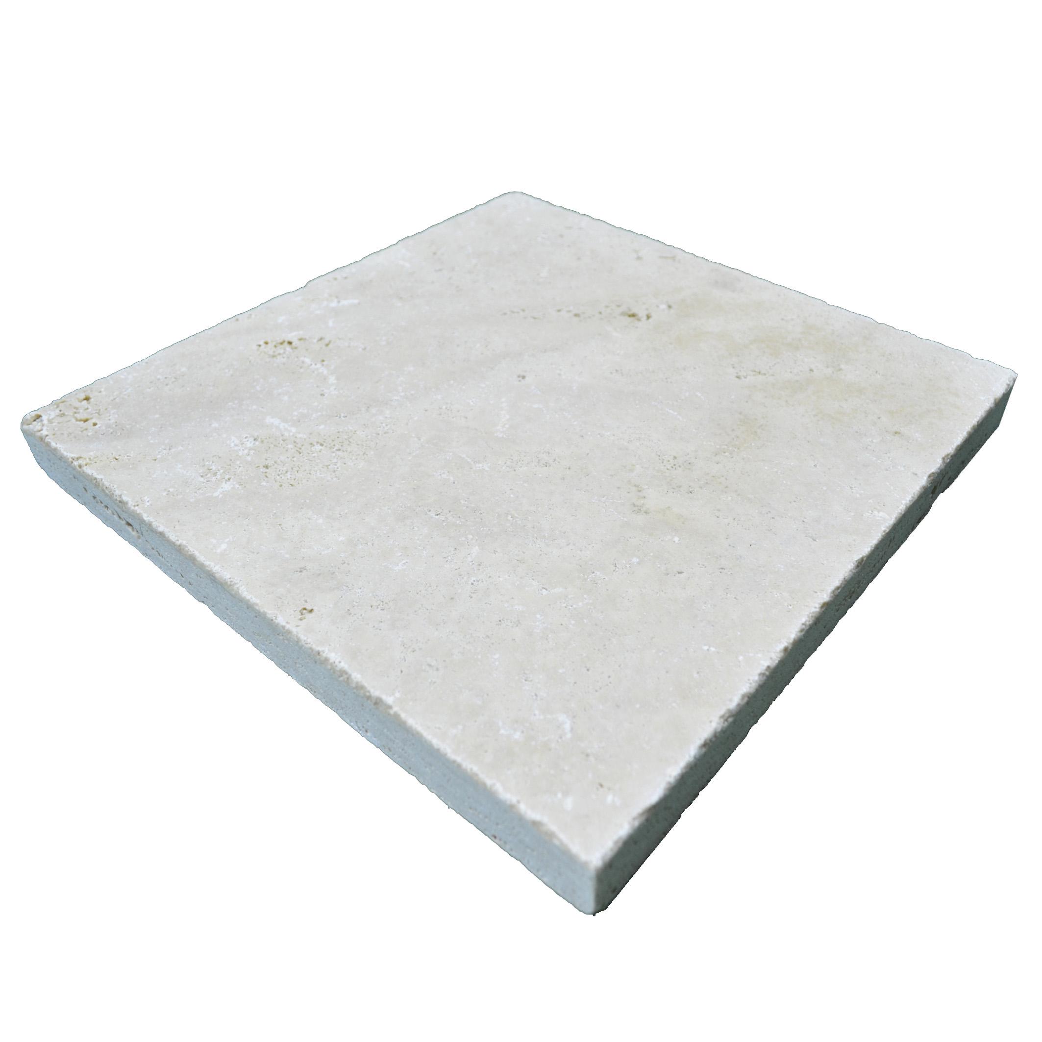 Ivory Tumbled Travertine Pavers 16×16-pavers sale-Atlantic Stone Source