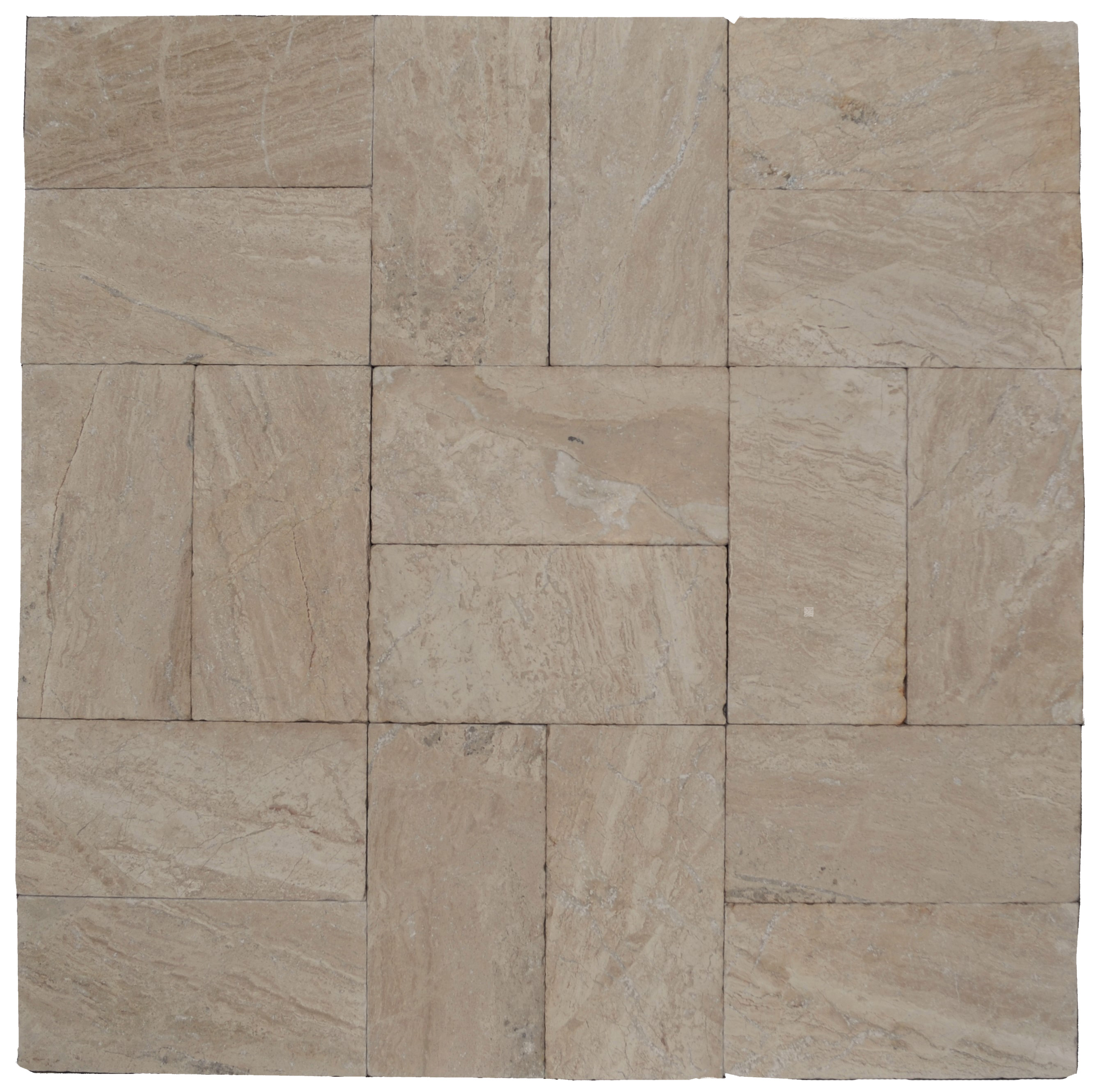 Venice Tumbled Travertine Pavers 6×12