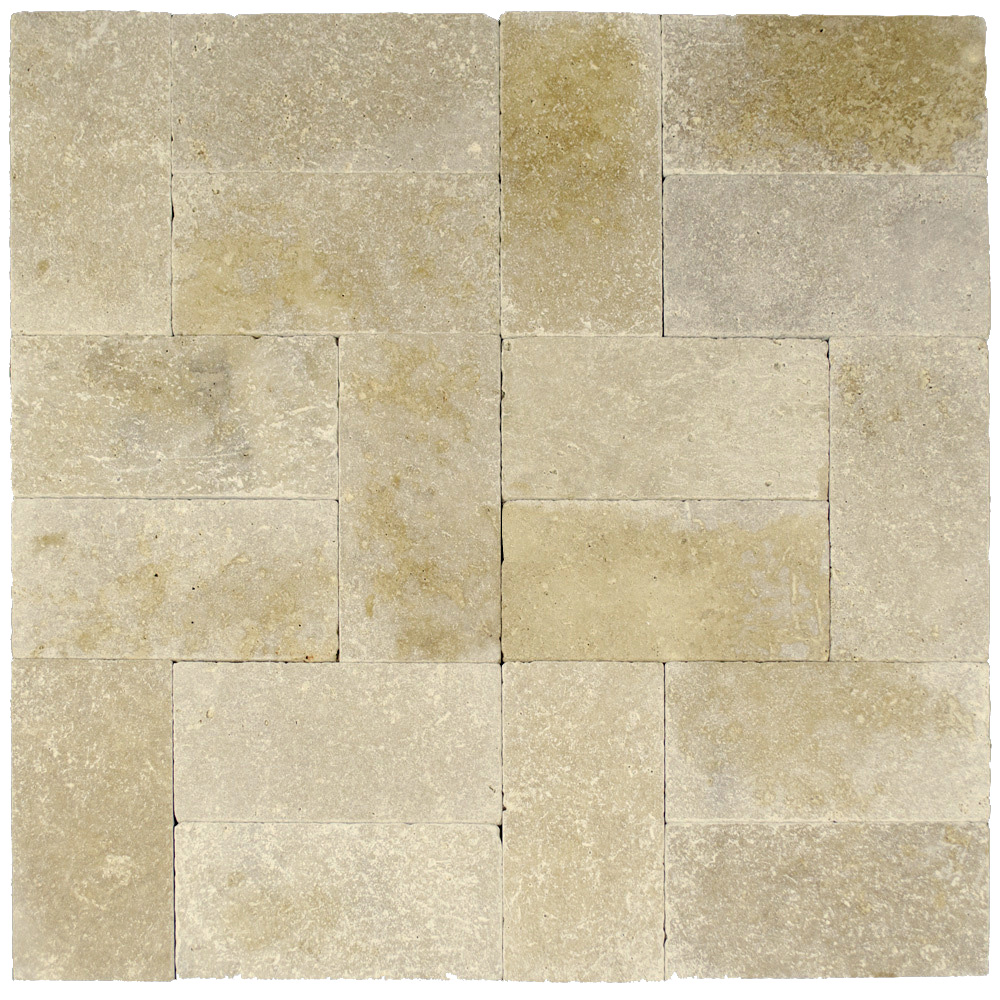 Walnut Tumbled Travertine Pavers 6×12