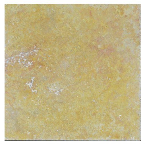Gold Honed Filled Chiseled Travertine Tiles 18x18 -Travertine tiles sale-Atlantic Stone Source