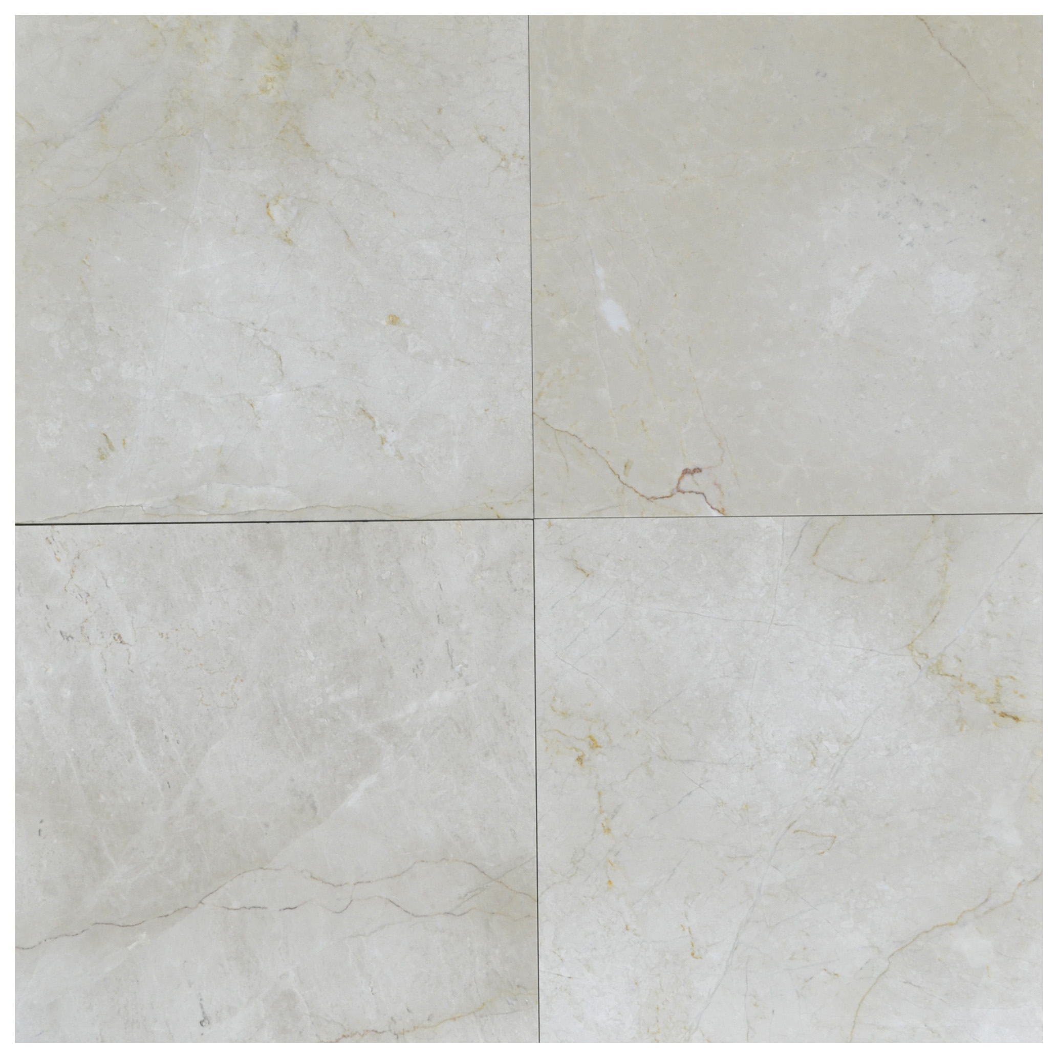 Cream Nouva Antique Polished Marble Tiles 24x24 - Natural Stone Marble