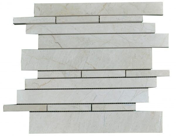 Crema Nouva Polished Marble Linear Mosaic Tiles