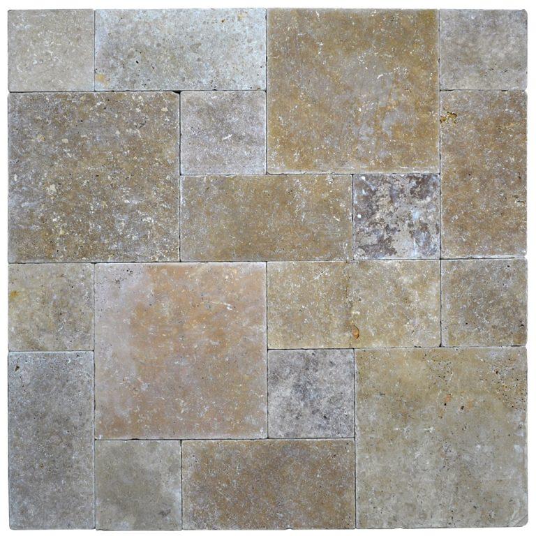 Noce Roman Pattern Tumbled Pavers-pavers sale-Atlantic Stone Source