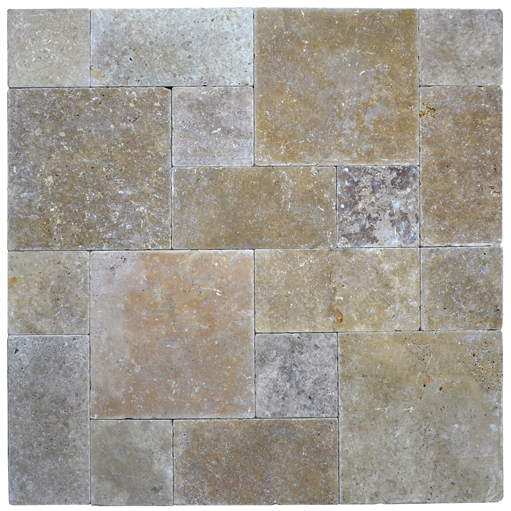 Noce Roman Pattern Tumbled Pavers-pavers sale-Atlantic Stone Source