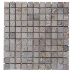 Noce Travertine Tumbled Mosaic Tiles 1x1