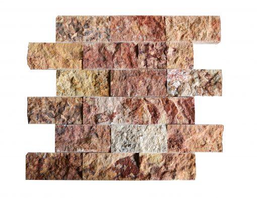 Scabas Split Face Travertine Mosaic Tiles 2×4