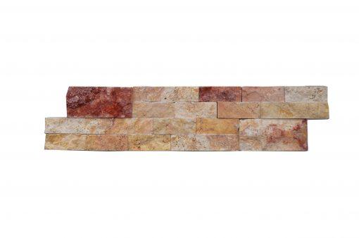 Scabas Linear Split Face Travertine Mosaic Tiles 6x24
