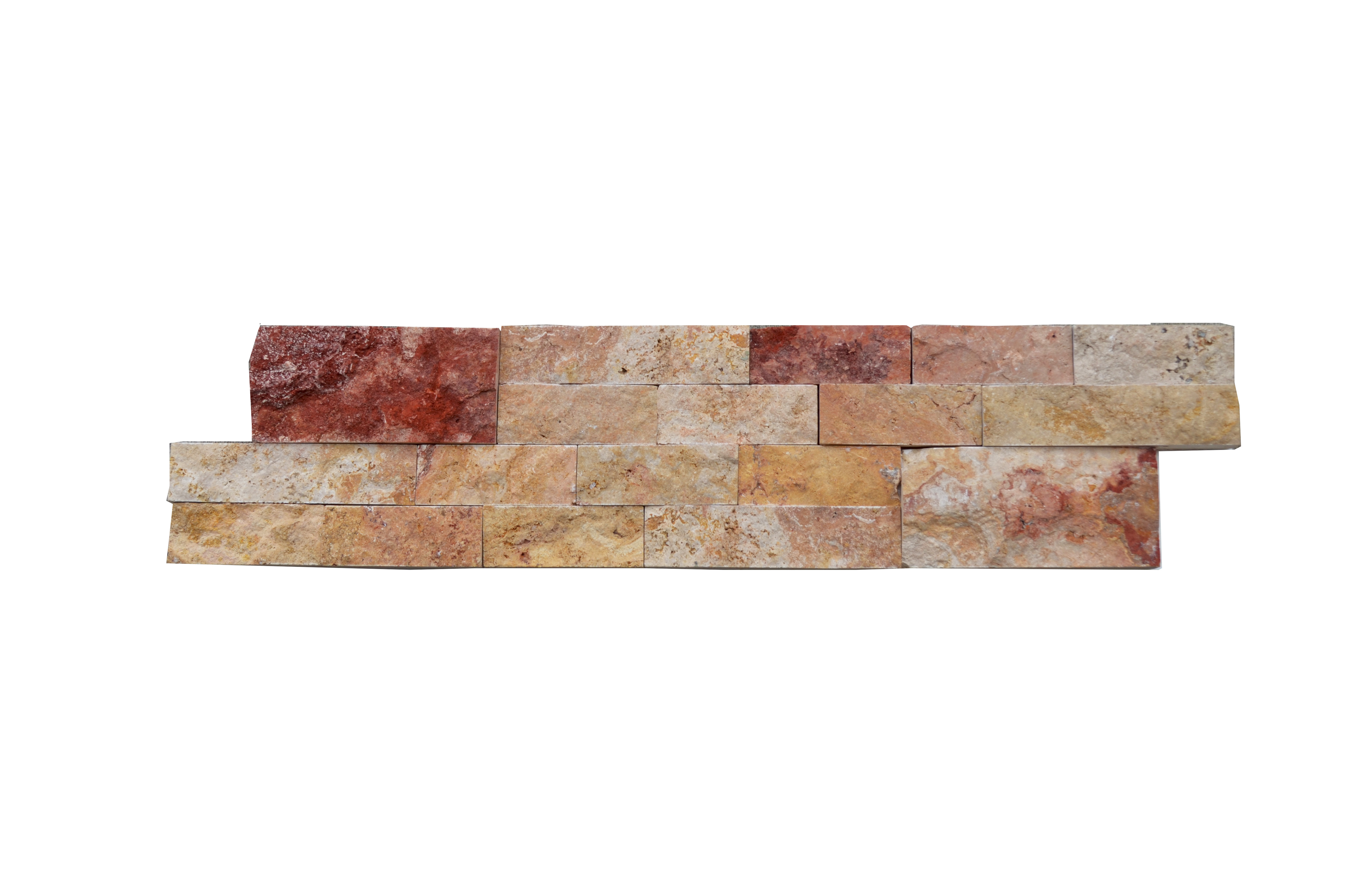 Scabas Linear Split Face Travertine Mosaic Tiles 6x24