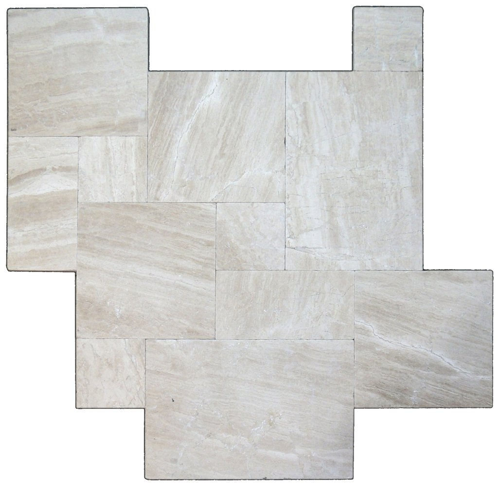 Venice Tumbled French Pattern Marble Pavers