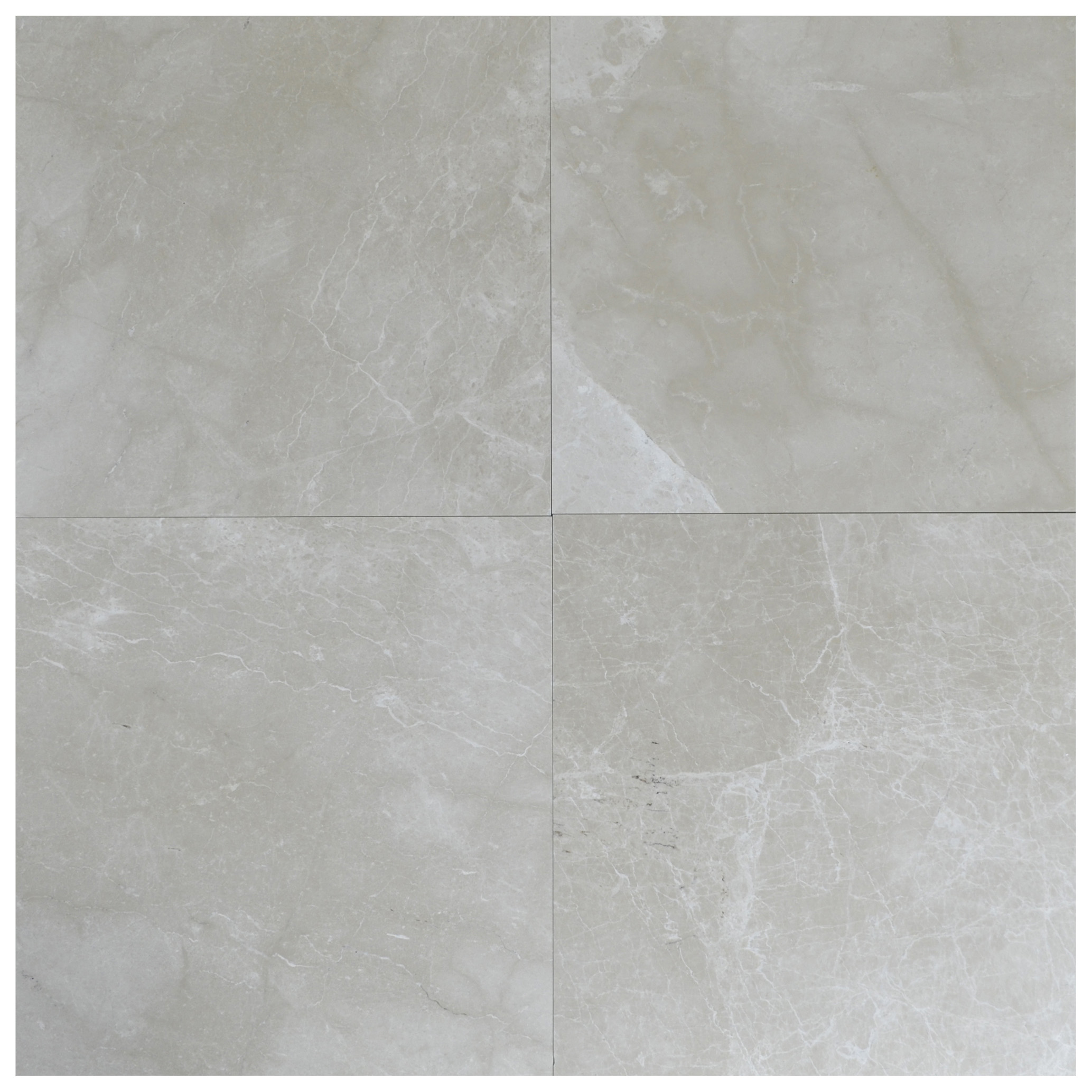 botticino beige B polished marble tiles 18X18-marble sale-Atlantic Stone Source