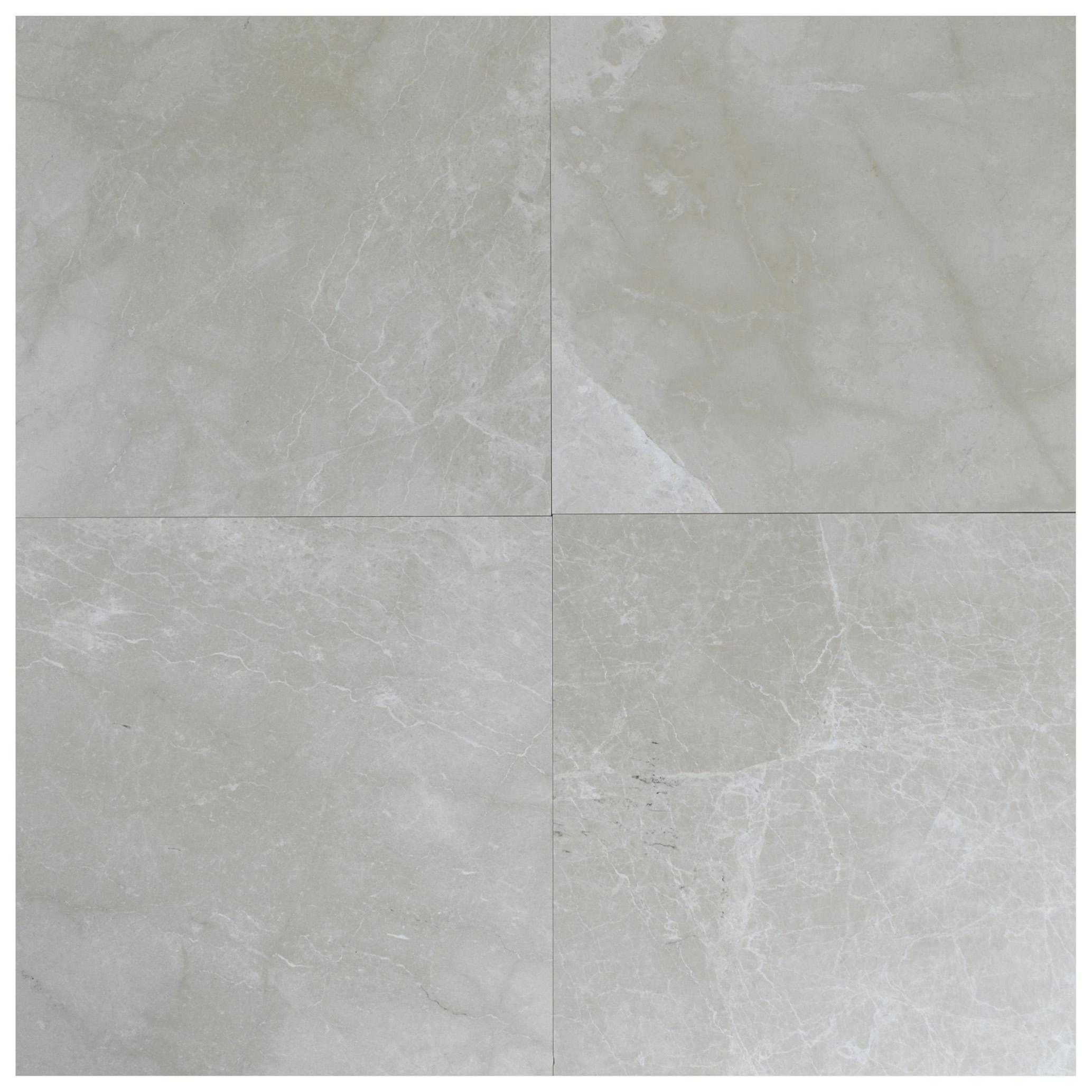 botticino beige B polished marble tiles 18X18-marble sale-Atlantic Stone Source