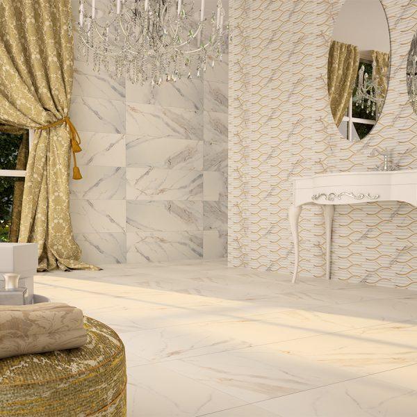 Antique Carrara Porcelain Tile 24X24 4
